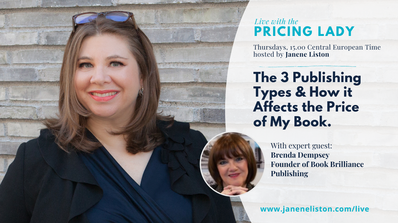 3 Publishing Types & Impact on Book Pricing   Live with the Pricing Lady