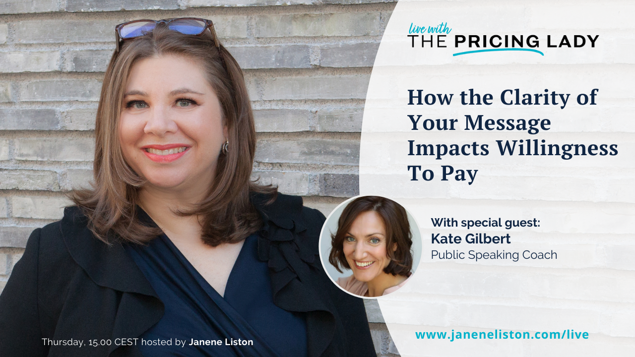 How the clarity of your message impacts willingness to pay
