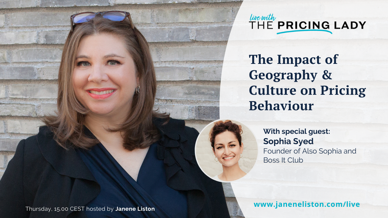 The Impact of Geography, Culture & Behaviour on Pricing Sophia Syed