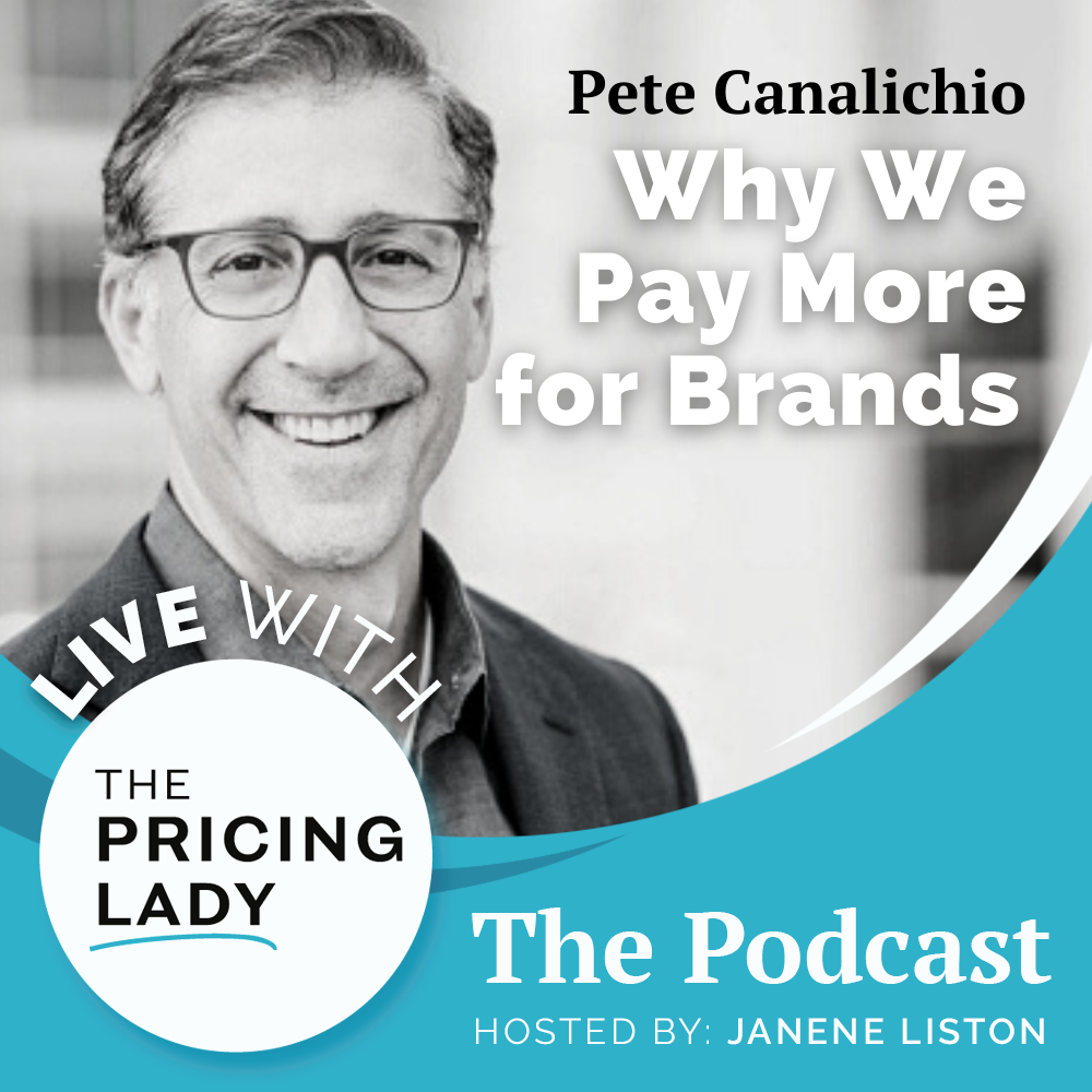 Pete Canalichio of BrandAlive on Live with the Pricing Lady